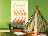 Orange Giraffe Family Poster par  Avalisa