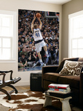 Miami Heat v Dallas Mavericks: Dirk Nowitzki and Chris Bosh Print by Glenn James