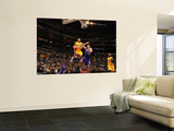 Sacramento Kings v Los Angeles Lakers: Shannon Brown and Omri Casspi Poster by Noah Graham