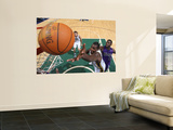Sacramento Kings v Utah Jazz: Paul Millsap and Tyreke Evans Print by Melissa Majchrzak
