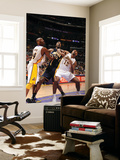 Indiana Pacers v Los Angeles Lakers: Roy Hibbert, Kobe Bryant and Ron Artest Prints by Andrew Bernstein
