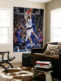 Detroit Pistons v Dallas Mavericks: Dirk Nowitzki Print by Glenn James