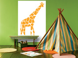 Orange Giraffe Affiches par  Avalisa