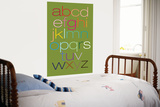 Green Rainbow Alphabet Poster by  Avalisa