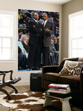 Cleveland Cavaliers v New Orleans Hornets: Byron Scott and Paul Pressey Print by Layne Murdoch