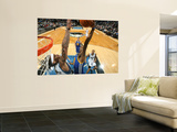 Golden State Warriors v Minnesota Timberwolves: Dorell Wright and Michael Beasley Print by David Sherman