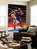 Los Angeles Lakers v Los Angeles Clippers: Derek Fisher and Jarron Collins Print by Noah Graham