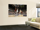 Cleveland Cavaliers v Indiana Pacers: Jamario Moon and Josh McRoberts Print by Ron Hoskins
