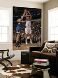 Minnesota Timberwolves v Dallas Mavericks: Dirk Nowitzki and Darko Milicic Print by Danny Bollinger