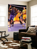 Sacramento Kings v Los Angeles Lakers: Derrick Caracter and Carl Landry Prints by Andrew Bernstein