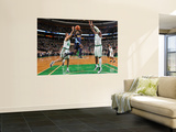 Denver Nuggets v Boston Celtics: Ty Lawson and Glen Davis Prints by Brian Babineau