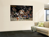 Milwaukee Bucks v Cleveland Cavaliers: Joey Graham and Corey Maggette Print by David Liam Kyle