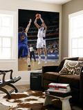 Golden State Warriors v Dallas Mavericks: Dirk Nowitzki and David Lee Print by Glenn James