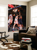 Atlanta Hawks v New York Knicks: Al Horford, Anthony Randolph and Timofey Mozgov Posters by Jeyhoun Allebaugh