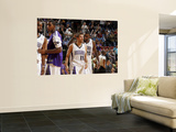New Jersey Nets v Sacramento Kings: Donte Greene and Beno Udrih Print by Don Smith