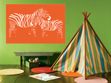 Orange Zebra Affiches par  Avalisa