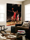 Houston Rockets v Toronto Raptors: Luis Scola and Reggie Evans Print by Ron Turenne