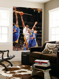 Golden State Warriors v Los Angeles Lakers: Kobe Bryant, Dorell Wright and Andris Biedrins Prints by Noah Graham