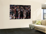 Miami Heat v Dallas Mavericks: Dwyane Wade, Chris Bosh, LeBron James and Joel Anthony Print by Bill Baptist