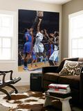 New York Knicks v New Orleans Hornets: Trevor Ariza and Amar'e Stoudemire Print by Layne Murdoch