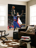 Detroit Pistons v Houston Rockets: Kevin Martin and Jason Maxiell Poster by Bill Baptist