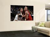 Philadelphia 76ers v Cleveland Cavaliers: Anderson Varejao and Darius Songaila Poster by David Liam Kyle