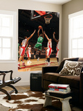 Boston Celtics v Toronto Raptors: Marquis Daniels andrea Bargnani and Linas Kleiza Posters by Ron Turenne