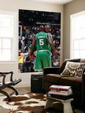 Boston Celtics v Atlanta Hawks: Kevin Garnett and Shaquille O'Neal Prints by Scott Cunningham