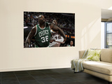 Boston Celtics v Cleveland Cavaliers: Shaquille O'Neal and J.J. Hickson Prints by David Liam Kyle