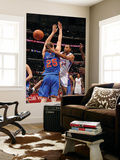 New York Knicks v Los Angeles Clippers: Brian Cook and Timofey Mozgov Art by Noah Graham