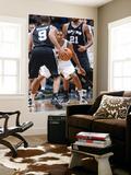 San Antonio Spurs v Minnesota Timberwolves: Wesley Johnson and Tony Parker Art by David Sherman