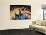 Golden State Warriors v Dallas Mavericks: Alexis Ajinca, Dorrell Wright and Andris Biedrins Posters by Glenn James