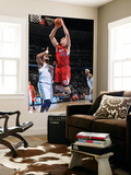 Los Angeles Clippers v Denver Nuggets: Blake Griffin and Shelden Williams Print by Garrett Ellwood