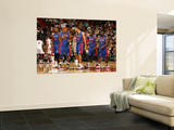 Detroit Pistons v Miami Heat: Greg Monroe, Charlie Villanueva, Tayshaun Prince and Rodney Stuckey Plakater af Issac Baldizon