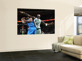 Oklahoma City Thunder v Boston Celtics: Serge Ibaka and Kevin Garnett Prints by Brian Babineau