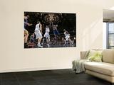 Golden State Warriors v Dallas Mavericks: Monta Ellis and Ian Mahinmi Art by Glenn James