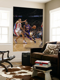 Los Angeles Lakers v Detroit Pistons: Kobe Bryant and Tayshaun Prince Kunst af Allen Einstein