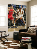 Toronto Raptors v Indiana Pacers: Roy Hibbert and Andrea Bargnani Posters by Ron Hoskins