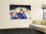 New Jersey Nets v Atlanta Hawks: Josh Smith and Al Horford Print by Scott Cunningham