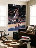Portland Trail Blazers v New Jersey Nets: Kris Humphries and LaMarcus Aldridge Print by David Dow