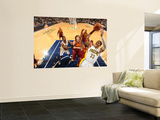 Cleveland Cavaliers v Indiana Pacers: Danny Granger anderson Varejao and Joey Graham Art by Ron Hoskins