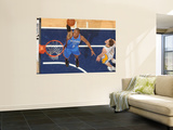 Oklahoma City Thunder v Indiana Pacers: Russell Westbrook and Mike Dunleavy Poster by Ron Hoskins