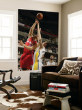 Los Angeles Clippers v Indiana Pacers: Blake Griffin and Tyler Hansbrough Print by Ron Hoskins