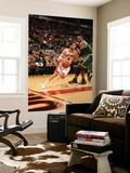 Boston Celtics v Toronto Raptors: Jose Calderon and Glen Davis Posters by Ron Turenne