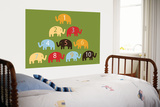 Green Counting Elephants Prints by  Avalisa