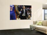 New York Knicks v Charlotte Bobcats: Mike D'Antoni Poster by Streeter Lecka