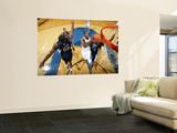 Memphis Grizzlies v Washington Wizards: Gilbert Arenas and Darrell Arthur Prints by Ned Dishman