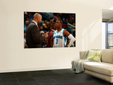 Detroit Pistons v New Orleans Hornets: Monty Williams and Chris Paul Poster by  Chris