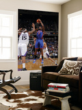 New York Knicks v Sacramento Kings: Amare Stoudemire and DeMarcus Cousins Print by Rocky Widner