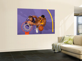 Sacramento Kings v Los Angeles Lakers: Devin Ebanks and Francisco Garcia Prints by Andrew Bernstein